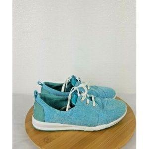 Toms Shoes - WOMEN'S BRIGHT BLUE TOMS SHOES SZ Y6 TOMS CANVAS